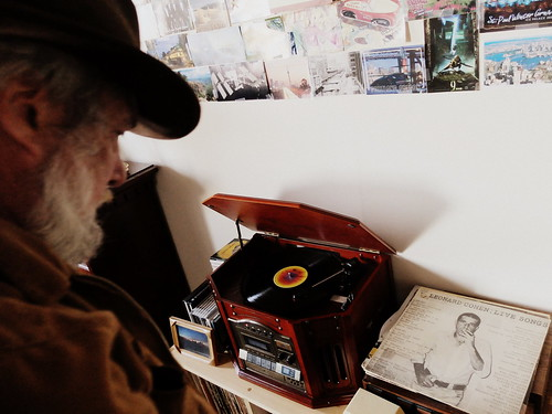 The Dad and his old Leonard Cohen record.