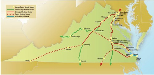 Virginia's long term plan for regional railroad service