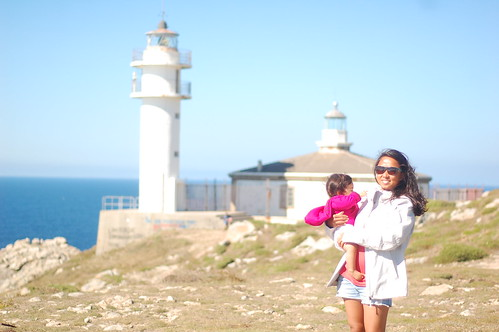 Lois With Baby Lighthouse Spain