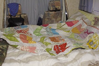 Bed made up in Gertie