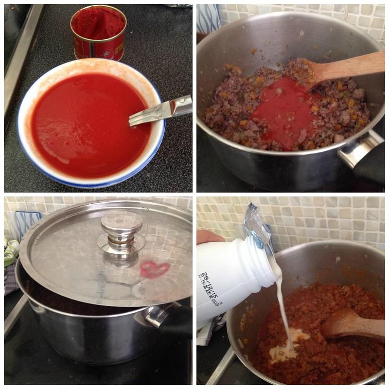Bolognaise sauce process 3