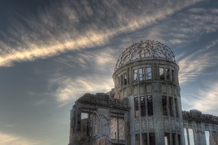 A-Bomb Dome at Hiroshima in early evening on OCT 28, 2015 (14)
