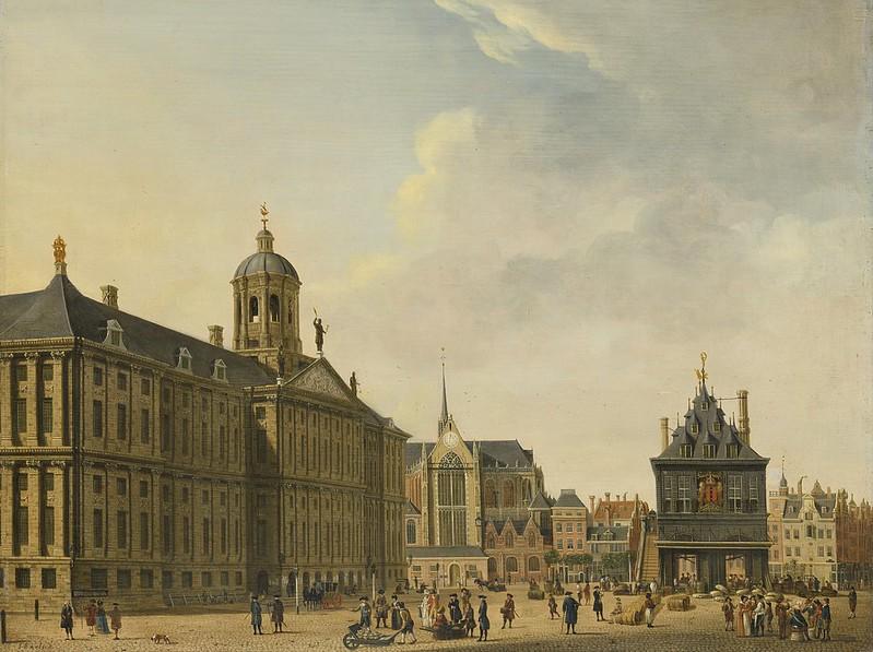 Jan Ekels - De Dam in Amsterdam (c.1765)