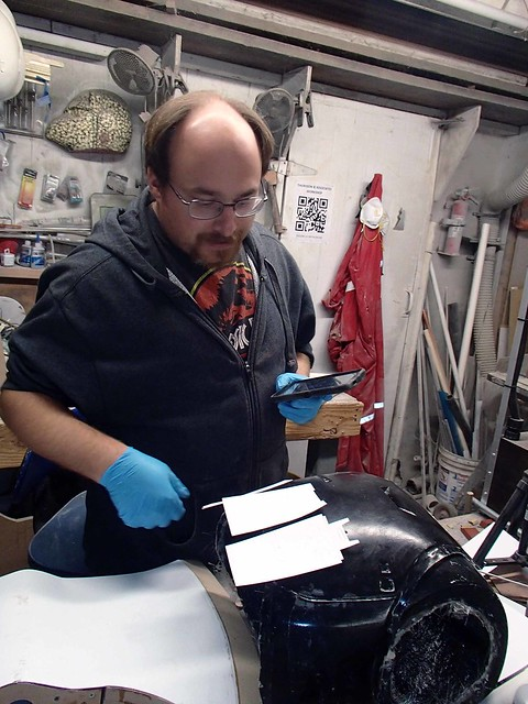 Matt Making TIE Pilot Chest Boxes