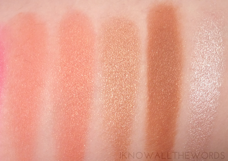 Sephora Collection Ombre Obsession Face Palette swatches (3)