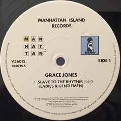 GRACE JONES:SLAVE TO THE RHYTHM(LABEL SIDE-A)