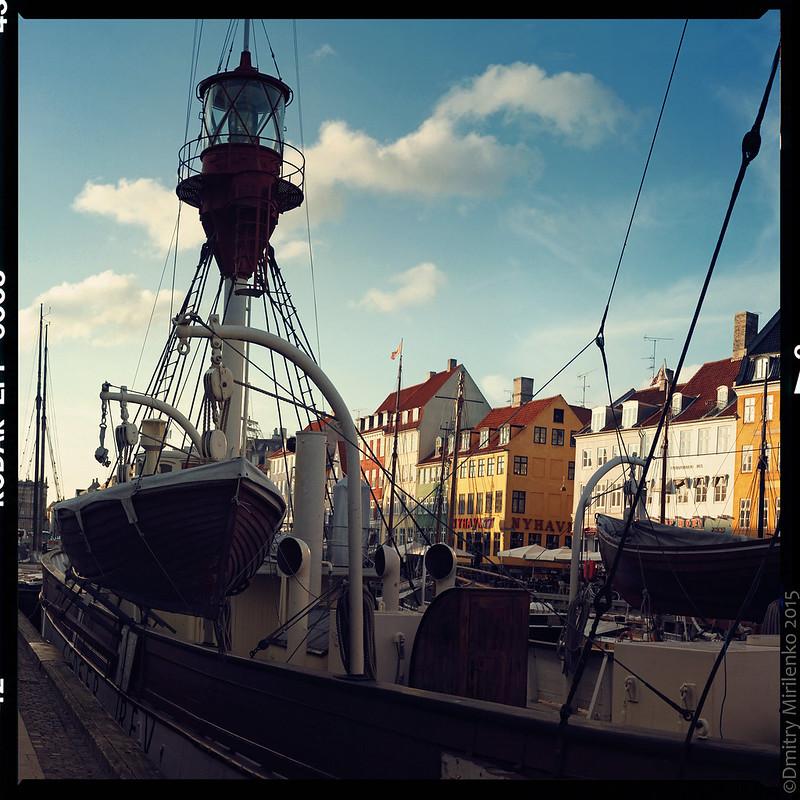 Nyhavn Harbor - lightship