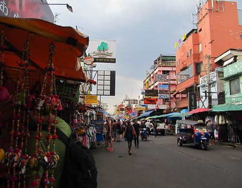 Bangkok: mais où est Mister J? A la recherche d'un petit protefeuille pas cher.