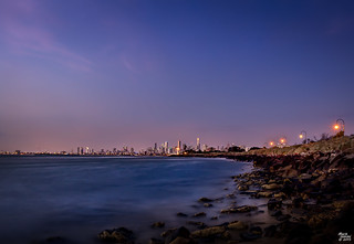 The City at Dusk from Point Ormond