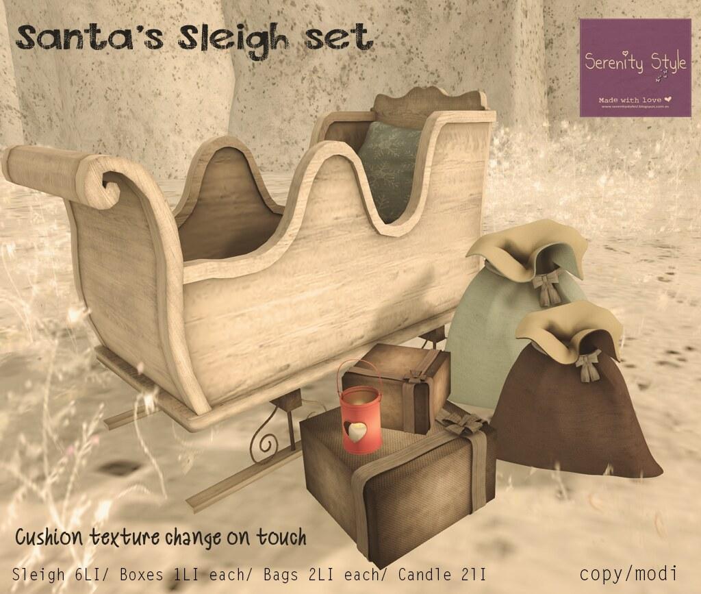 Serenity Style- Santas Sleigh Set