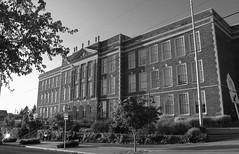 Hamilton International Middle School, Oblique Front Elevation  Seattle Public Schools