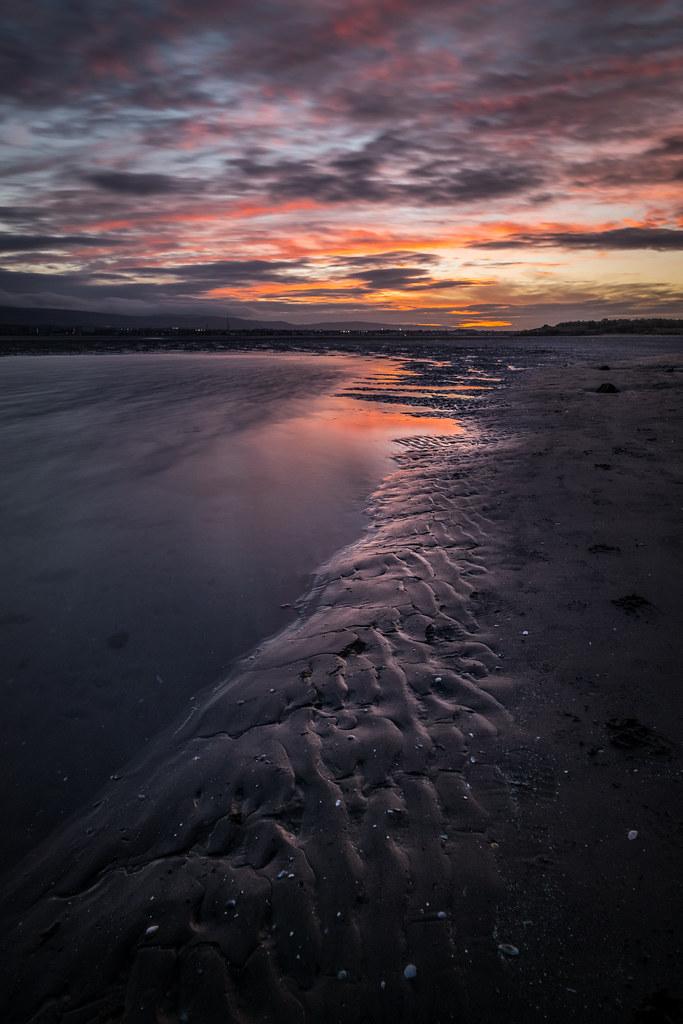 Sunset on the beach - Dublin, Ireland - Seascape photography