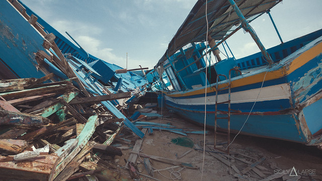 Lampedusa | Cemetery of boats 07