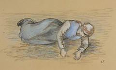 Etude pour les sarcleuses à Pontoise (C Pissarro)