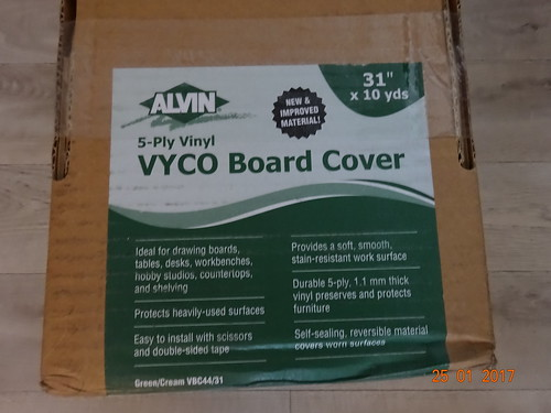 Alvin 5 ply worktop Covering has landed