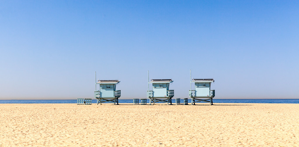 Life Guard Posts, Santa Monica Beach