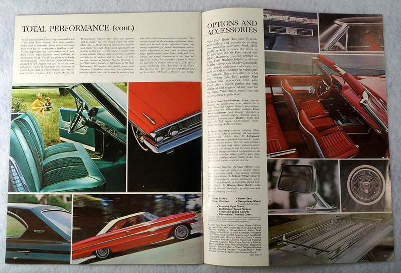 RD12665 1964 Ford Galaxie 500 XL Custom Country Squire Color Brochure Catalog DSC08650