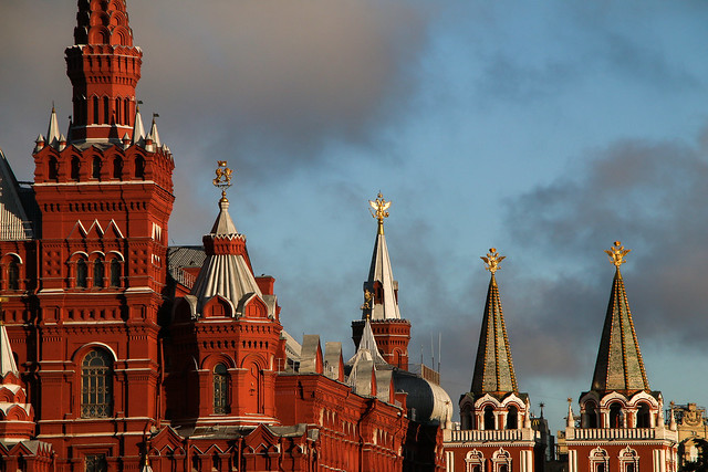 Red Square in the morning, Moscow, Russia モスクワ、朝の赤の広場