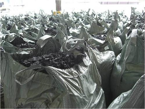 固化處理後的廢棄物。圖片來源:環保署