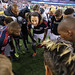 Jermaine Jones leads the pregame huddle vs. Philadelphia Union