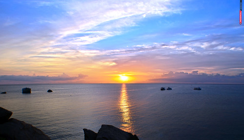 travel sunset summer favorite cloud beach clouds thailand island spring moments explore koh contiki 2015 triggercell thaieast
