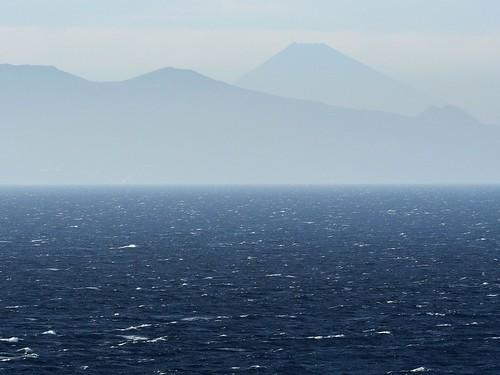 富士、利島から