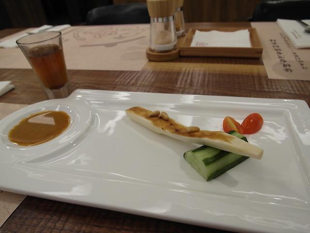 開胃沙拉,這個季節是筊白筍@棉花田有機餐廳