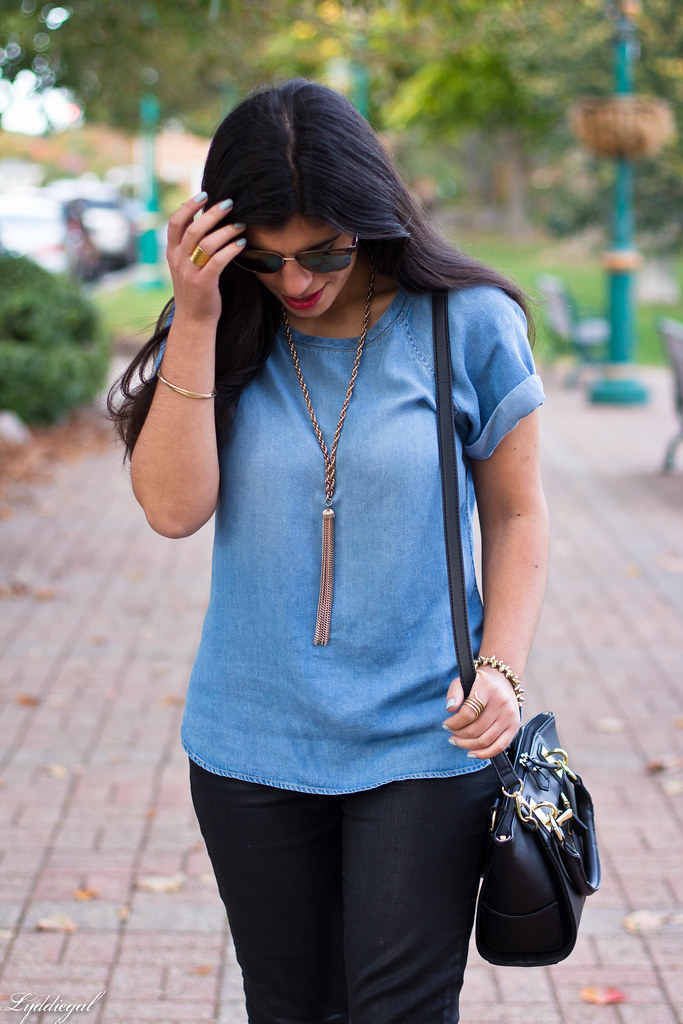 chambray tee, black coated jeans, leopard pumps-9.jpg