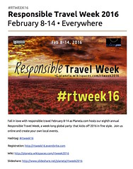Responsible Travel Week on Google Docs #rtweek16