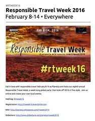 Responsible Travel Week on Google Docs #rtweek16