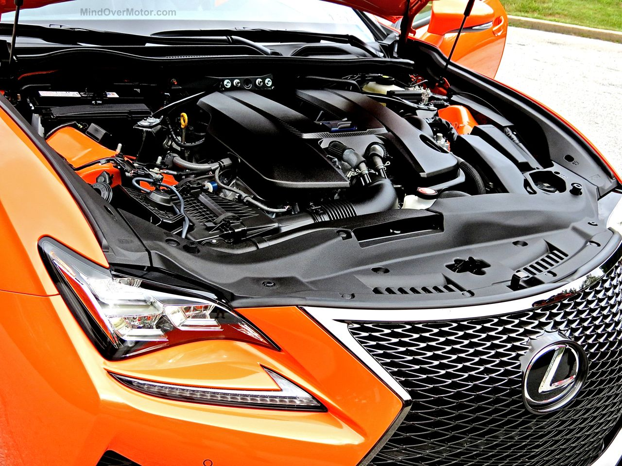 Orange Lexus RC-F Review 9