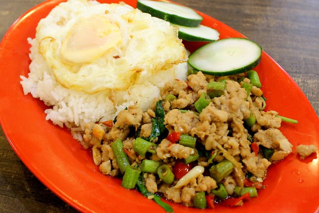 Abb Zabb: Thai Basil Minced Pork Rice And Egg