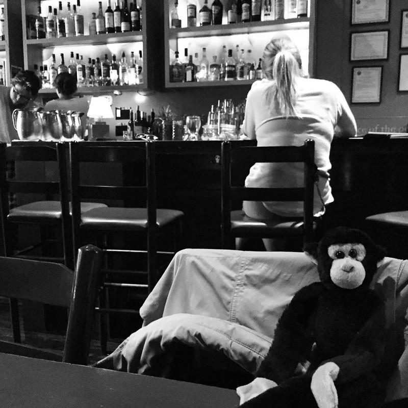 Monkey pub b/w