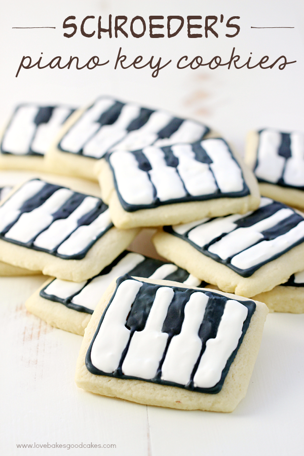 Schroeder's Piano Key Cookies
