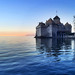 Chillon Castle at Sunset near Montreux, Switzerland by ` Toshio '