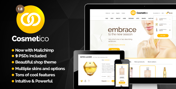 Cosmetico v1.9.3 - Responsive eCommerce WordPress Theme