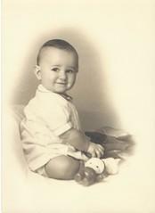 Mystery numismatist baby photo