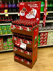 Coca Cola Santa Christmas Display, 11/2015 at Stop &Shop, pics by Mike Mozart of TheToyChannel and JeepersMedia on YouTube #Coca #Cola #CocaCola #Santa #Christmas