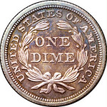 1845 Dime reverse