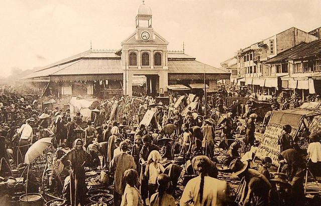 Marché de Cholon (environs de Saïgon)
