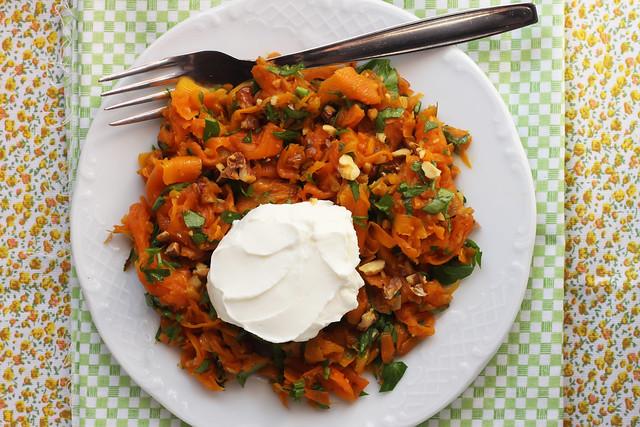 Turkish Carrot Salad with Yogurt by Olga Irez