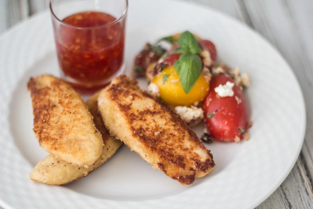Opskrift på parmesanpaneret kylling