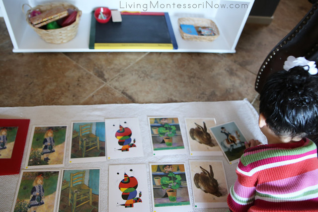 Montessori Art Postcard Matching