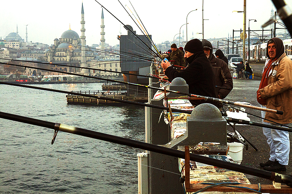 People fishing at 7-25AM--Istanbul