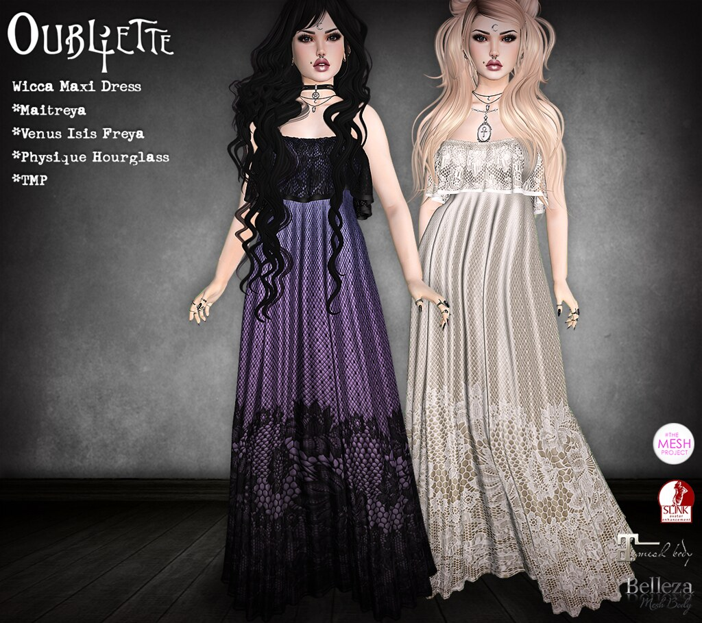 Oubliette- Wicca Maxi Dress - SecondLifeHub.com