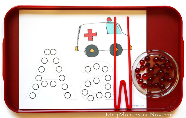 Aa is for Ambulance Beginning Sounds Activity