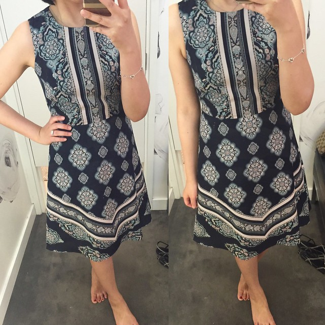 Ann Taylor Mosaic Flare Dress, size 0P