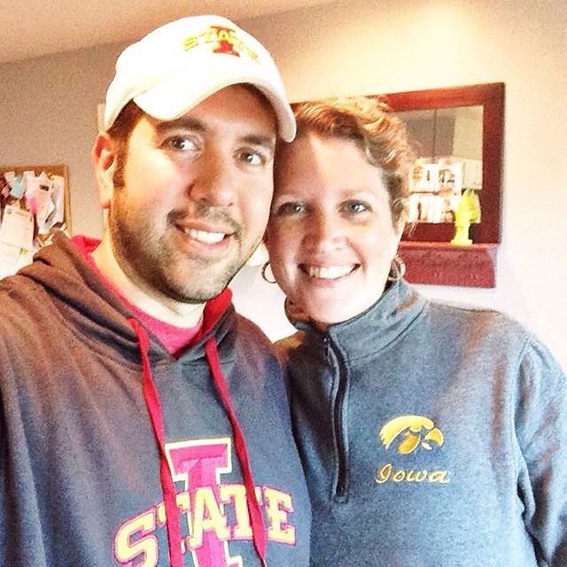 House divided #gocyclones #gohawks