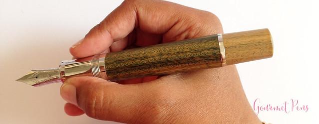 Review Delta Vespucci Encore Argento Wood LE Fountain Pen @ChatterleyLux (10)