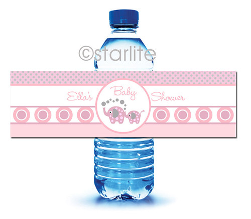 Baby Shower Water Bottle Label Template